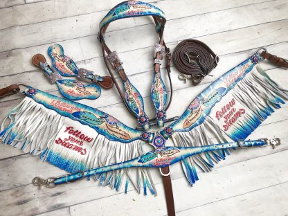 Follow Your Dreams Headstall Breast Collar Fringe Set 4032 x 3024 px