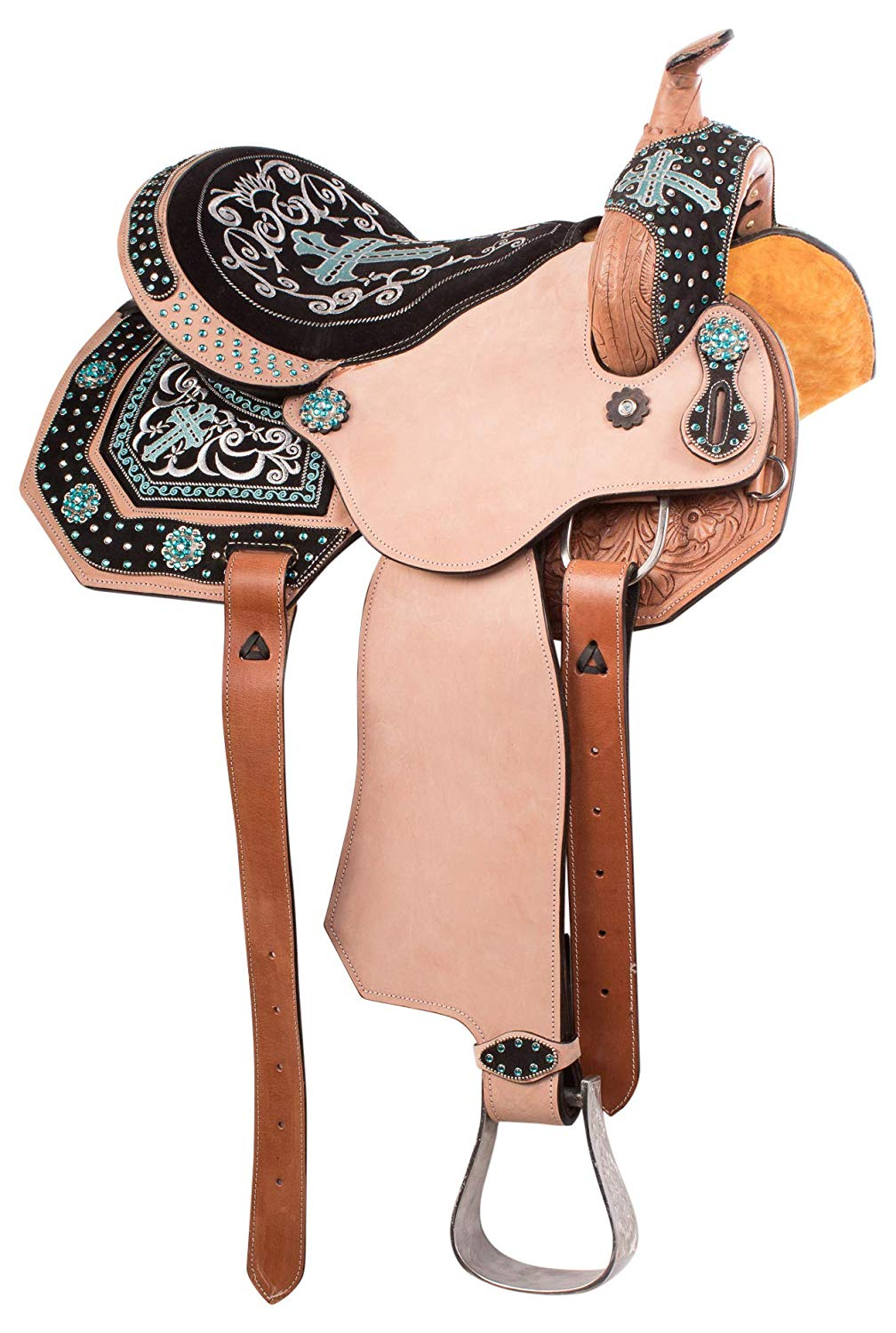 Turquoise Western Leather Horse Barrel Racing Bling Bridle Headstall Tack Set Sporting Goods Breast Collars Romeinformation It