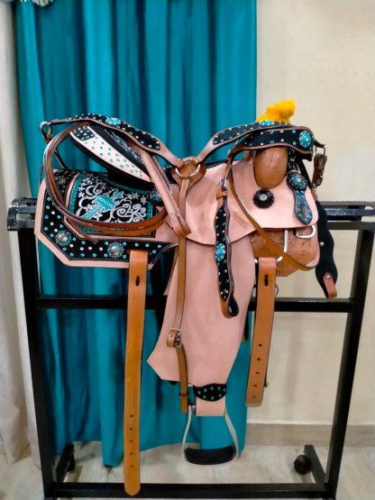 Turquoise Barrel Saddle