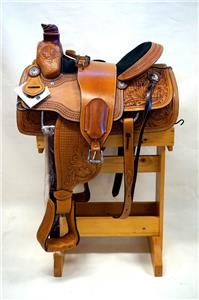15″ 16″ 17″ Roper Saddle Western Fully Tooled Warranty-1