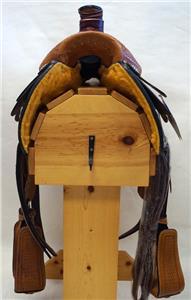 15″ 16″ 17″ Roper Saddle Western Fully Tooled Warranty-2