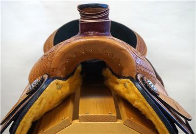 15″ 16″ 17″ Roper Saddle Western Fully Tooled Warranty-3