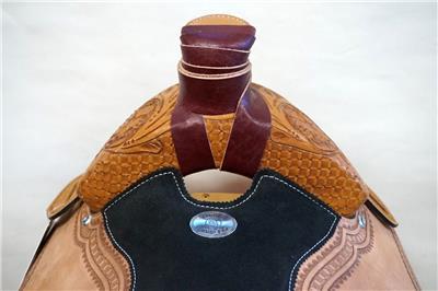 15″ 16″ 17″ Roper Saddle Western Fully Tooled Warranty-4