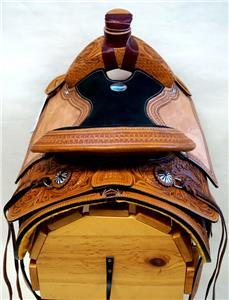 15″ 16″ 17″ Roper Saddle Western Fully Tooled Warranty-5