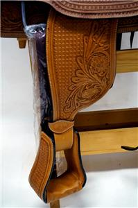 15″ 16″ 17″ Roper Saddle Western Fully Tooled Warranty-7