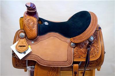 15″ 16″ 17″ Roper Saddle Western Fully Tooled Warranty-8