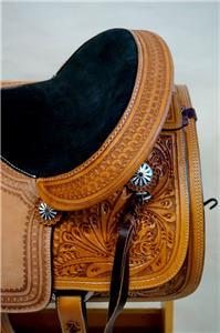 15″ 16″ 17″ Roper Saddle Western Fully Tooled Warranty-9