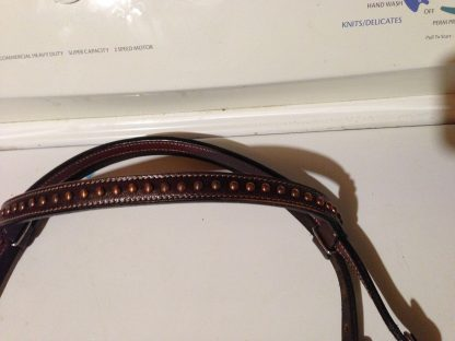 Tack Set Antique Copper Finish Dark Oil Leather Tooling - 18