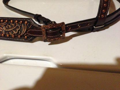 Tack Set Antique Copper Finish Dark Oil Leather Tooling - 17