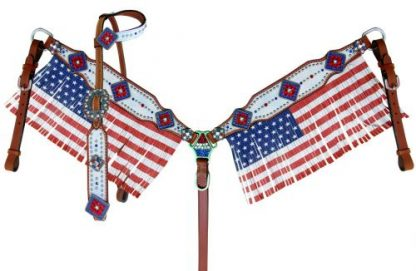 USA American Flag - Fringes - Tack Set - 1