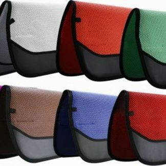 """NEW Showman 32"""" X 30"""" Waffle Perforated Saddle Pad w/ Wear Leathers!"""