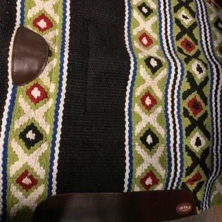Luckiest, Good Luck SHOWMAN Navajo Design Western Saddle Pad With Fleece Bottom