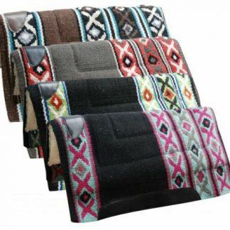 "Showman 36"" x 34"" Wool Top Western Saddle Pad w/ Fleece Bottom"