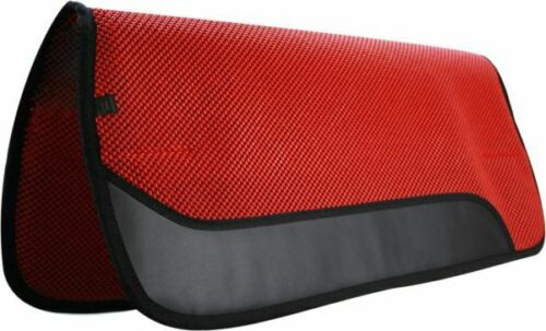 """NEW Showman 32/"""" X 30/"""" Waffle Perforated Saddle Pad w// Wear Leathers!"""