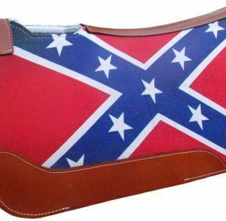 "Showman RED WHITE BLUE Western Saddle Pad Solid Felt Bottom 31"" x 32"" x 1"""