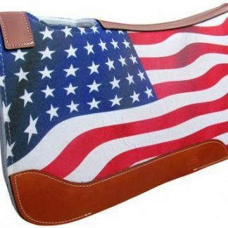 "NEW! Showman 31"" X 32"" American Flag Printed Solid Felt Saddle Pad!"
