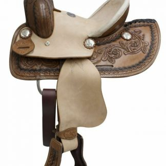 """10 """" Double T Youth Roper Style Saddle with Leather Latigo and Off Billet!"""