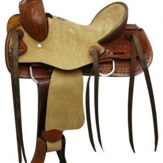 """12"""" Double T Youth Size Hard Seat Roper Style Saddle With Basket Weave Tooling!"""