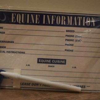 Brand new equine information card