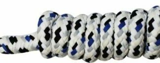 """5/8"""" x 8' speckled cotton lead rope with bolt snap."""