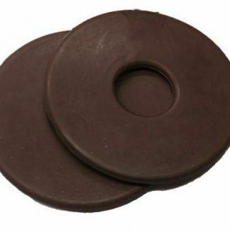 "BROWN Rubber PAIR BIT GUARDS 3 1/4"" Diameter Size PREVENT RUBBING"