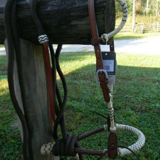 Bitless Hackamore Rawhide Bosal Mecate Complete Set New Horse Tack