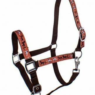 3-Ply Nylon Halter w/ Multi Horse Design