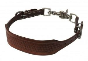 Showman MEDIUM OIL Leather PONY Wither Strap w/ Basket Weave Tooling! NEW TACK!!