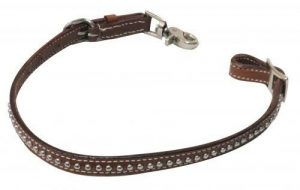 Showman MEDIUM OIL Leather PONY Wither Strap w/ Silver Studs!! NEW HORSE TACK!!