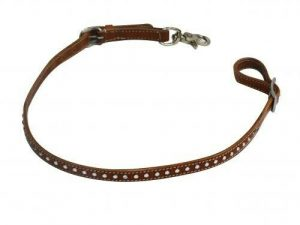 Showman Crystal Studded Leather Wither Strap w/ Scissor Snap End! NEW HORSE TACK