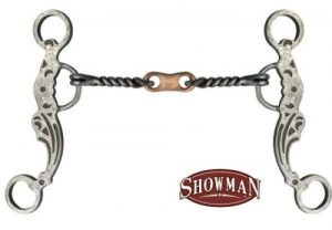 """Showman 5"""" Brown Steel Bit w/ Twisted Mouth & Copper Dogbone! NEW HORSE TACK"""