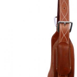 """heavy duty 5"""" inch wide leather back cinch with roller buckles"""