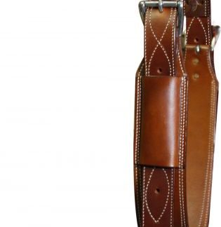 """heavy duty 3"""" wide leather back cinch with roller buckles"""