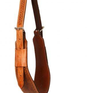 "5"" wide heavy duty leather backrigging basketweave tooling"