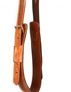 "3"" wide heavy duty leather backrigging basketweave tooling"
