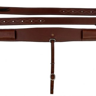 """3"""" heavy duty brown leather backrigging"""
