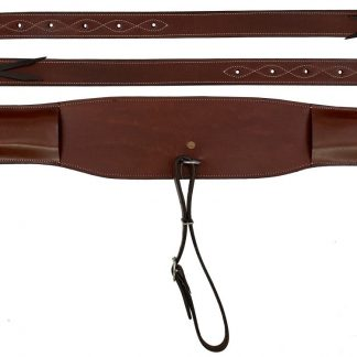 """5"""" heavy duty brown leather backrigging"""
