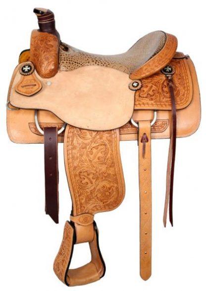 Roper Style Saddle Western Roping-Light Oil