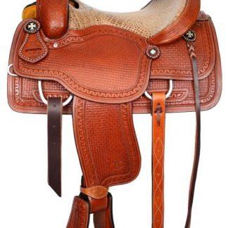 Roper Style Saddle Western Roping-1