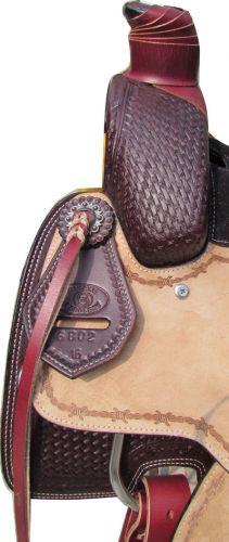 Roper Style Saddle Western Roping -Light +Dark Oil-2