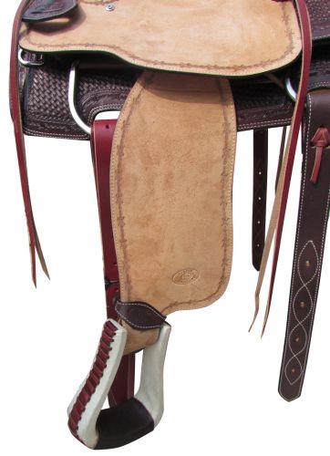 Roper Style Saddle Western Roping -Light +Dark Oil-3